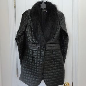 Faux Fur Trimmed Quilted